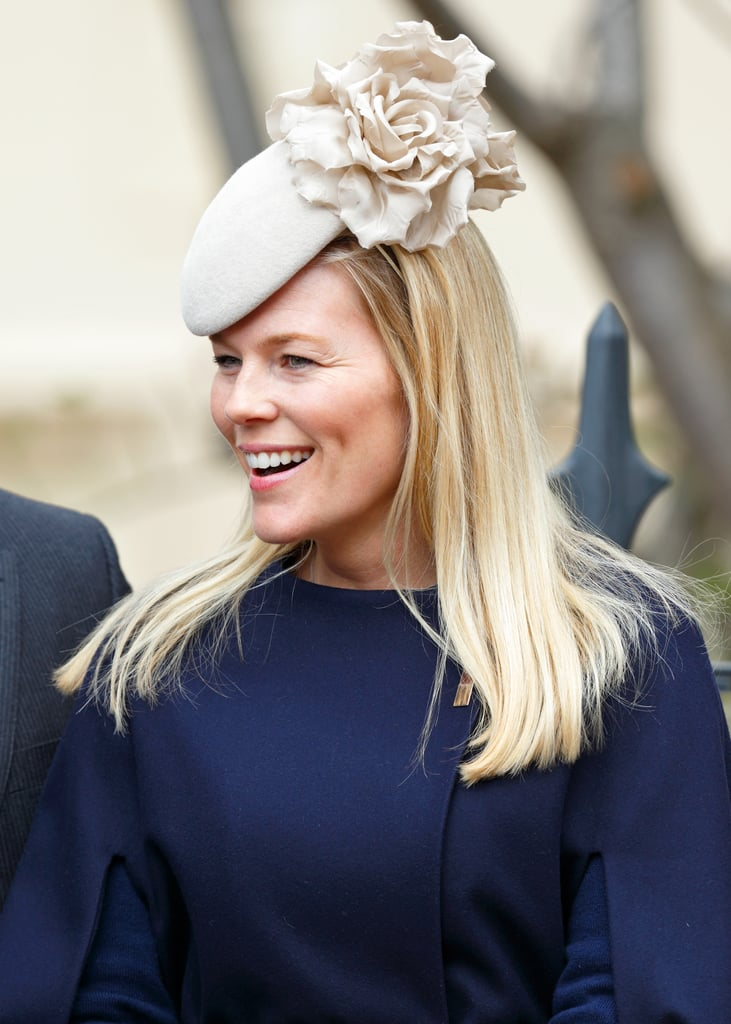 Autumn Phillips in taupe Emily London for church at Easter 2015.