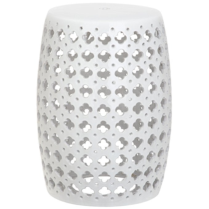 Afavieh Castle Gardens Collection Lacey White Glazed
