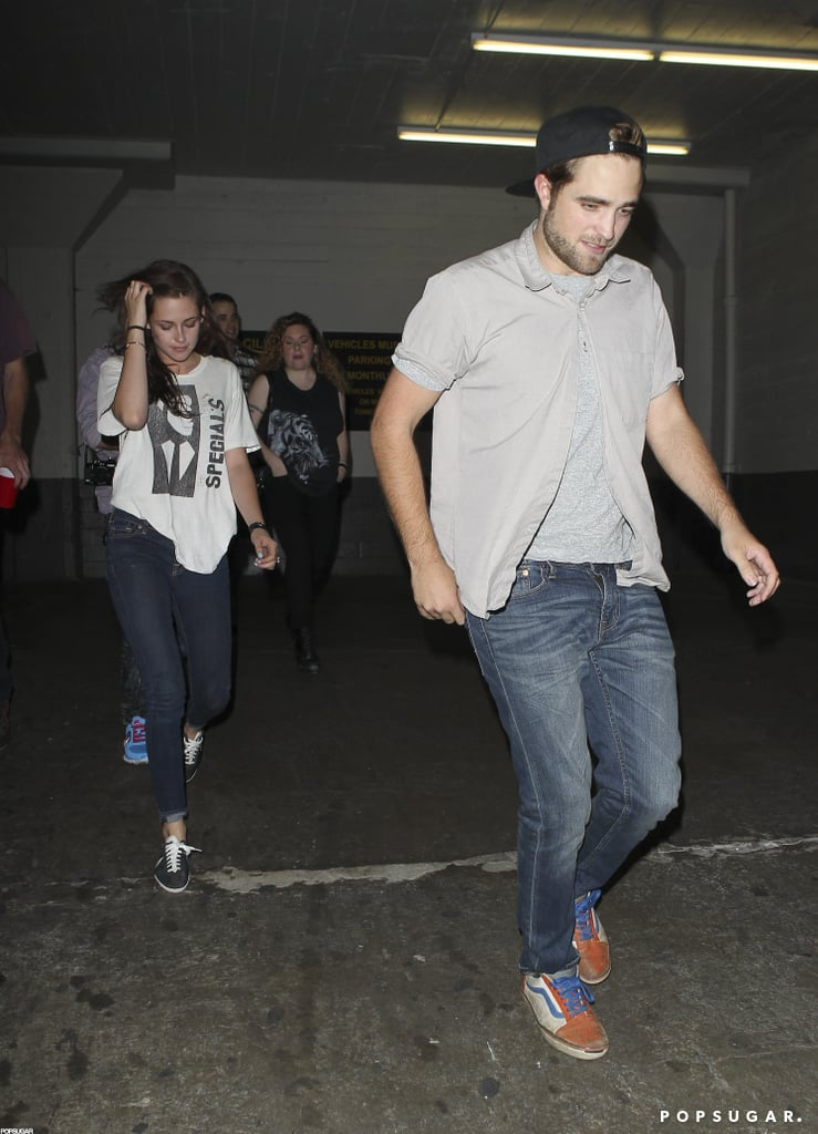 Robert Pattinson led the way while Kristen Stewart followed closely behind.