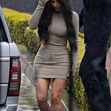 Kim Kardashian Wore a Tight-Fitting Minidress