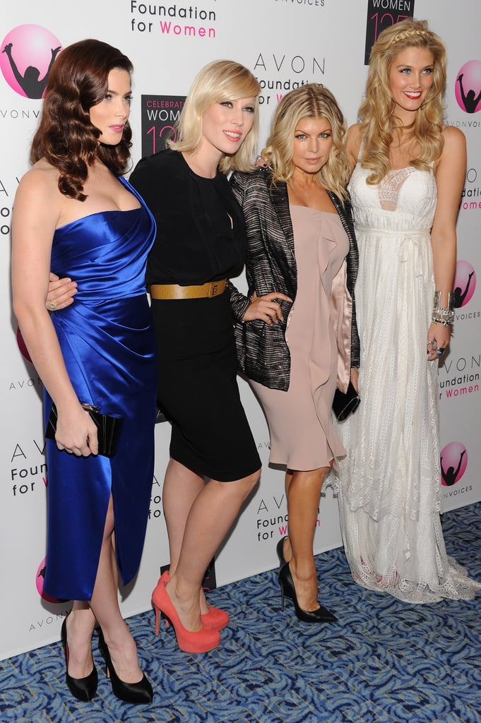 With Ashley Greene, Natasha Bedingfield and Fergie at the Avon Foundation for Women Global Voices for Change Gala in NYC on Nov. 2, 2011.