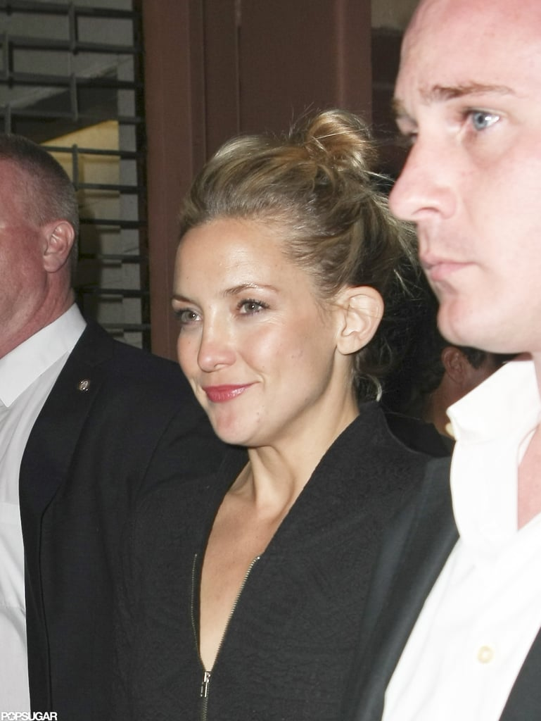 Kate Hudson smiled leaving an SNL afterparty in NYC.