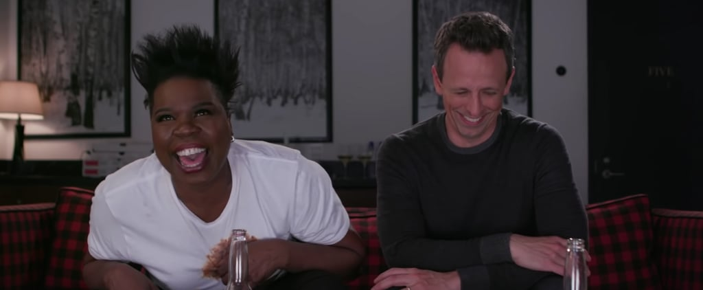 Leslie Jones and Seth Meyes Game of Jones Season 8 Finale