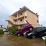 Flooding seen on Saint-Martin on Sept. 6.