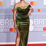 Mahalia on the 2020 BRIT Awards Red Carpet