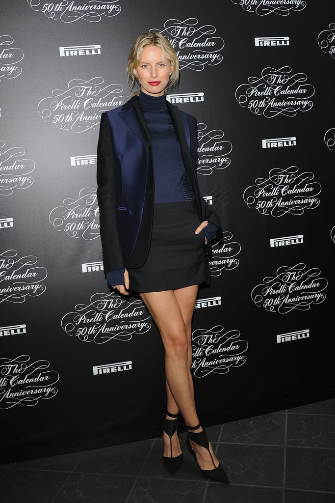 Karolina Kurkova at the Pirelli Calendar's 50 anniversary party.