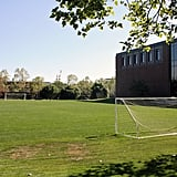 Employees can play on the soccer field . . .