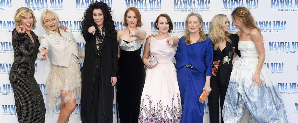 Celebrities at Mamma Mia! Here We Go Again Premiere
