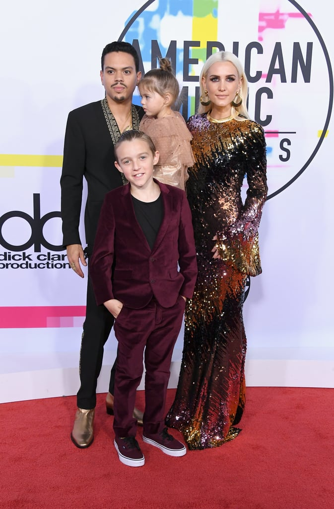 Ashlee Simpson and Evan Ross at the 2017 AMAs