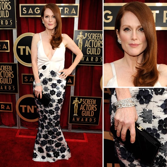 Julianne Moore Stuns in Low-Cut Chanel the 2013 SAG Awards