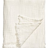 Crinkled Cotton Throw