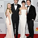 Amanda Seyfried, Sacha Baron Cohen, Anne Hathaway, and Eddie Redmayne hit up the NBC afterparty.