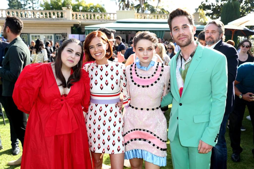 Beanie Feldstein, Zoey Deutch, Joey King, and Ben Platt at the 2020 Gold Meets Golden Party in LA