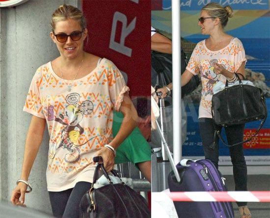Photos of Sienna Miller Without Balthazar Getting Wine Tasting in France
