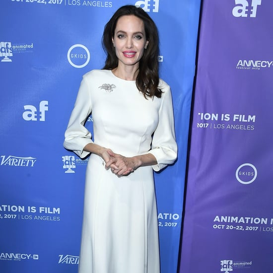 Angelina Jolie White Dress Oct. 2017