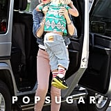 Gwen Stefani held onto Zuma in LA.
