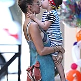 Nicole Richie and her son, Sparrow, shared a tender moment at a birthday party in LA.