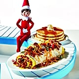 Elf on the Shelf Holiday Ham & Sausage Omelette
