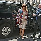 Melania's Dolce & Gabbana Coat, May 2017