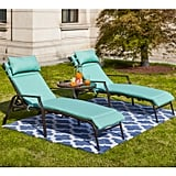 Wabbaseka Reclining Chaise Lounge With Cushions and Table