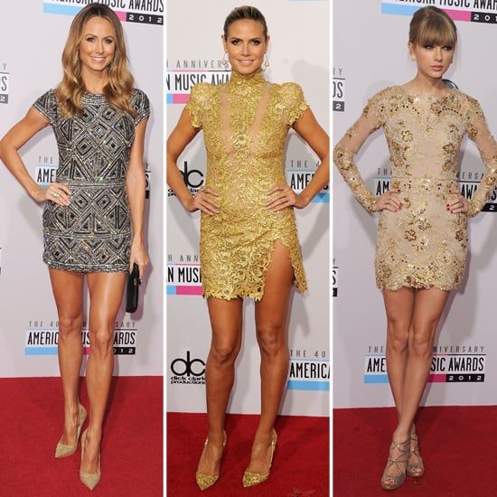 Taylor, Heidi and Stacy in Metallic Mini Dressed at the AMAs