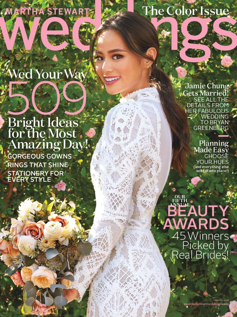 jamie chungs wedding dress in martha stewart weddings 2016 popsugar fashion