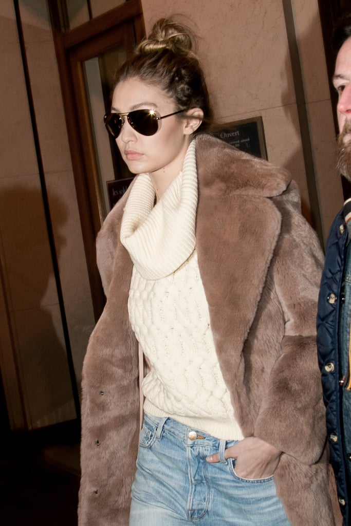 Gigi and Bella Hadid Pull Off the Ultimate French-Girl Style in Paris