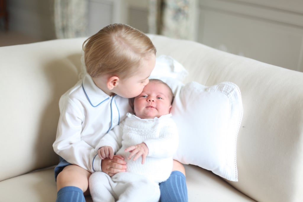 Prince George and Princess Charlotte at home in Anmer Hall.