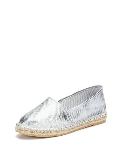 A metallic sheen gives Elorie's hand-stitched silver espadrilles ($69, originally $109) a slightly more downtown feel.