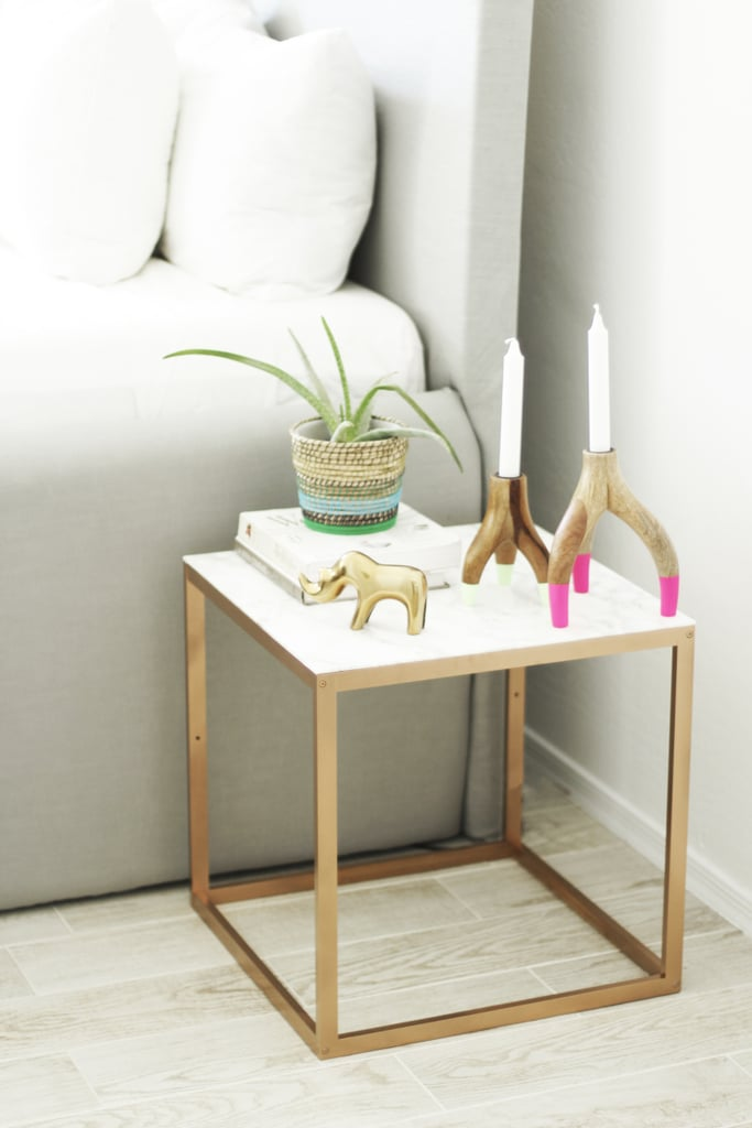 Faux Marble And Gold Nightstand Best Diy Projects For