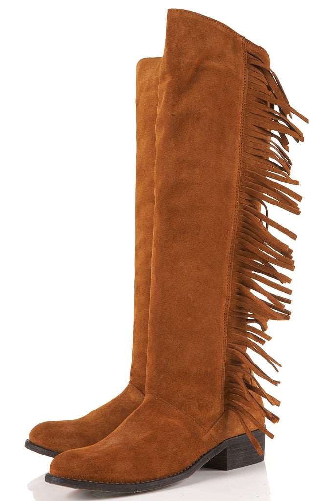 Add these Topshop Casper Fringe High Leg Boots ($190) to skinny jeans and a slouchy sweater for a Western-inspired kick.