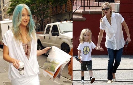 Kate Hudson Has Blue Hair on the Set of Bride Wars in NYC
