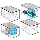 mDesign Plastic Bathroom Storage Bin With Handles