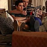 Aww, Klaine take a break.