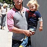 Gwen, Gavin, and Zuma Celebrate Kingston's Fifth Birthday With a Family Lunch
