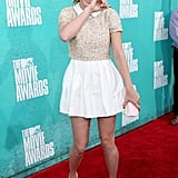 Brie Larson hit the red carpet at the 2012 MTV Movie Awards.