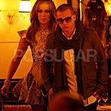 Jennifer Lopez and Casper Smart made their way to their table at Cipriani.