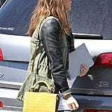 Jessica Alba arrives at Jessica Simpson's baby shower.
