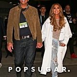 Jennifer Lopez and Alex Rodriguez Leaving the Super Bowl