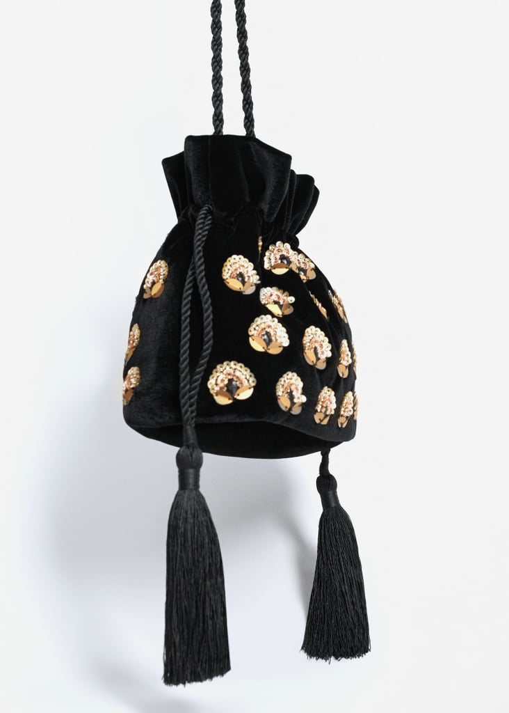 Mango Velvet Bead Bag