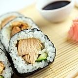 Chicken Teriyaki and Avocado Sushi Roll