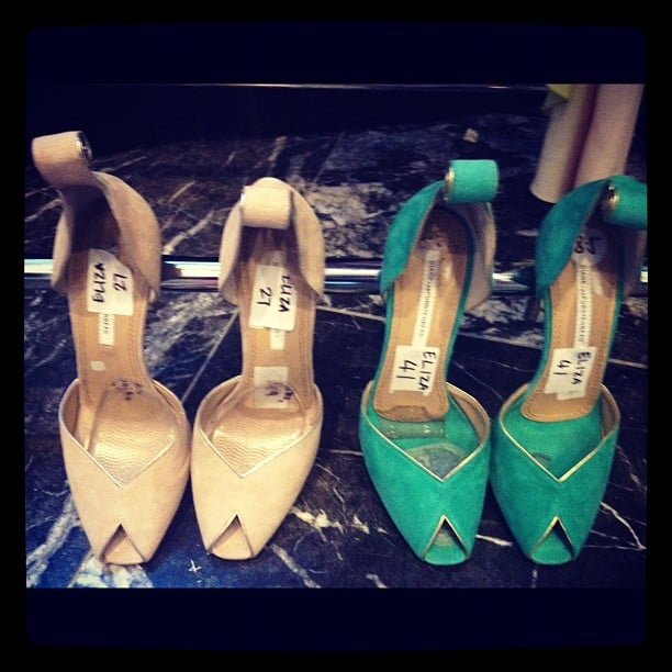 We'll take both! Gorgeous Diane von Furstenberg shoes, be ours.