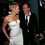 Charlize Theron and Quentin Tarantino mingled backstage at the Oscars.