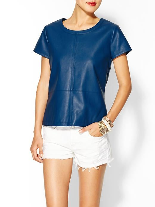 This Tinley Road vegan leather tee ($60, originally $69) provides the Spring leather look without the leather price tag.