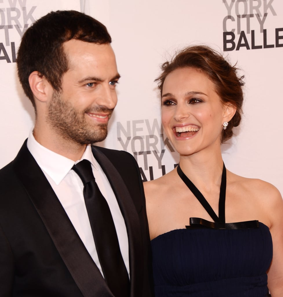 Benjamin Millepied and Natalie Portman smiled together at the NYC ballet.