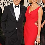Stacy Keibler and George Clooney at the Golden Globes.