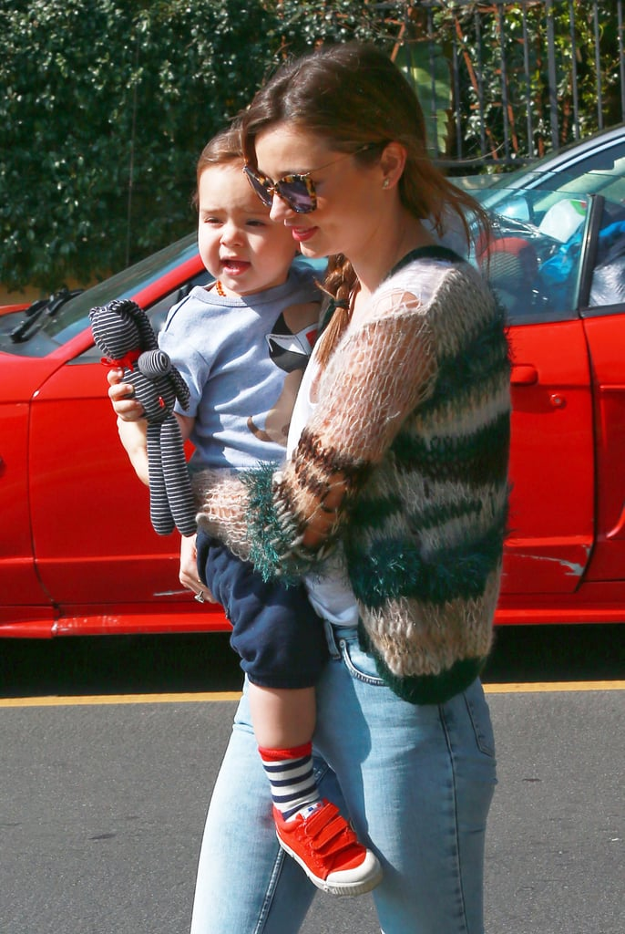 Miranda Kerr carried Flynn Bloom in LA.