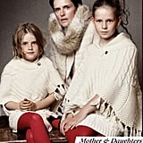 British model Stella Tennant and her daughters.