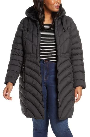 Bernardo Packable Hooded Walker Coat