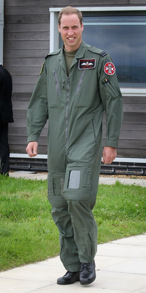 Prince William looked handsome in his uniform.